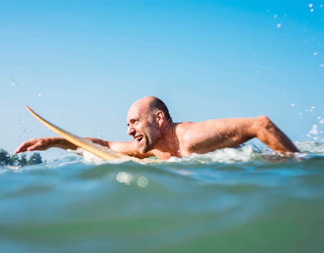 Retired man enjoying benefits of pension